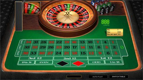 Online Roulette menu item